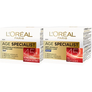Set L'OREAL PARIS Age Specialist 45+: Crema de zi, 50ml + Creama de noapte, 50ml