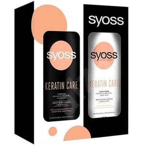 Set cadou SYOSS Keratin: Sampon, 440ml + Balsam de par, 440ml