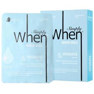 Masca de fata WHEN Water Wish, 5buc, 23ml