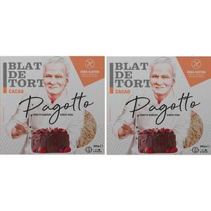 Blat de tort cacao fara gluten PAGOTTO, 350g, 2 bucati