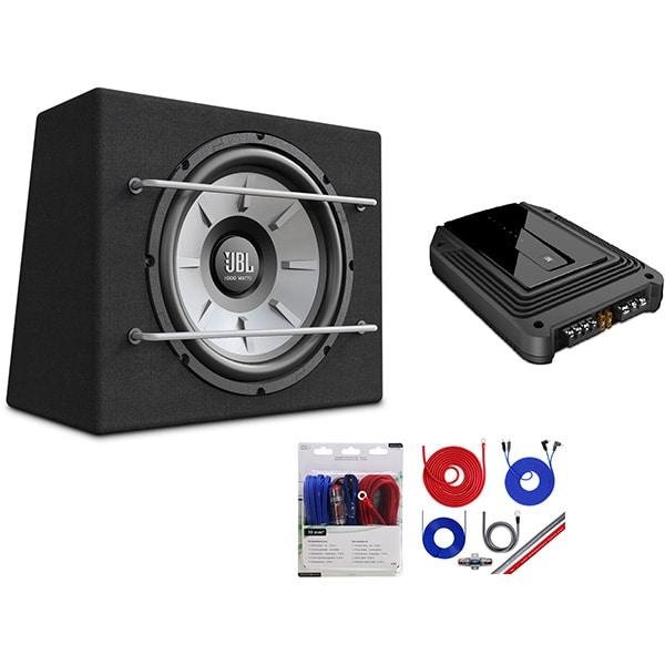 Pachet Subwoofer auto JBL 1200B + Amplificator JBL GX-A3001 + Kit de cabluri