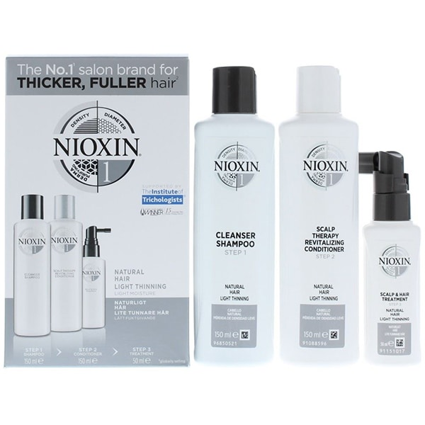 Set NIOXIN Sistem No.1: Sampon, 150ml + Balsam de par, 150ml + Tratament Leave-in, 50ml