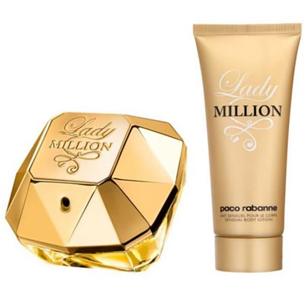 Set cadou PACO RABANNE Lady Million: Apa de parfum, 80ml + Lotiune de corp, 100ml