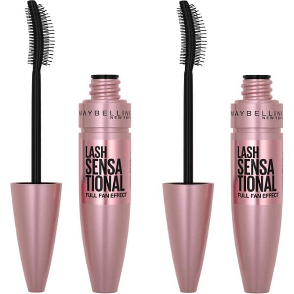 Pachet promo MAYBELLINE NEW YORK: Mascara Lash Sensational, Black, 9.5 ml x 2buc
