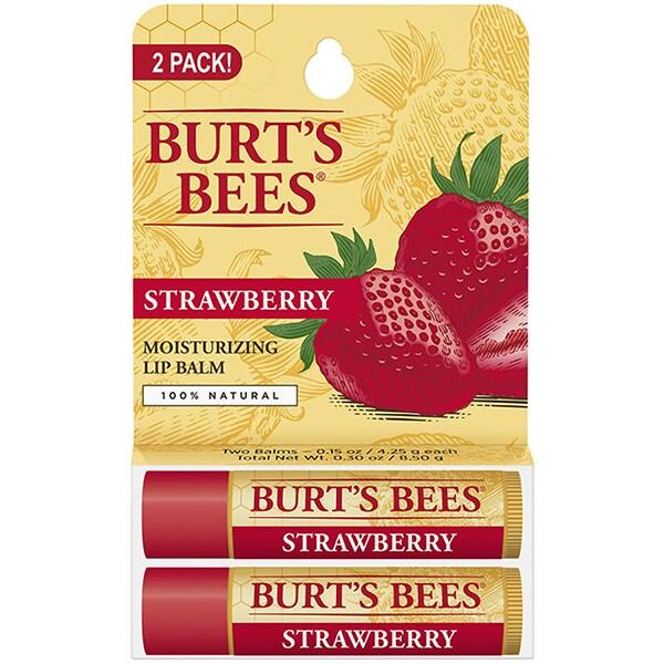 Pachet promo BURT'S BEES Strawberry: Balsam de buze, 2 x 4.5g