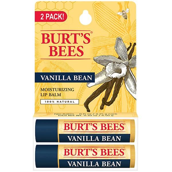 Pachet promo BURT'S BEES Vanilla Bean: Balsam de buze, 2 x 4.5g