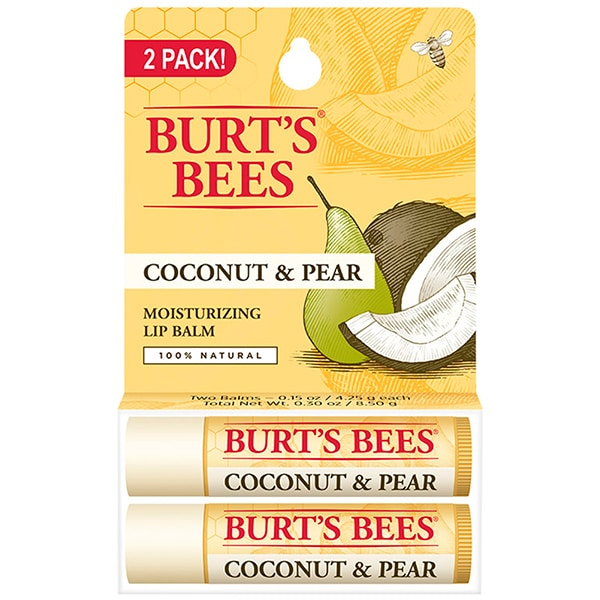 Pachet promo BURT'S BEES Coconut&Pear: Balsam de buze, 2 x 4.5g