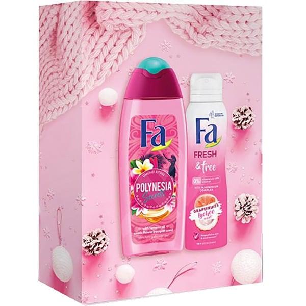 Set cadou FA Polynesia: Gel de dus, 250ml + Deodorant spray, 150ml