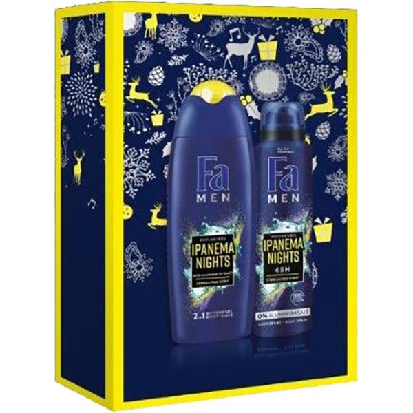 Set cadou FA Men Ipanema Nights: Gel de dus, 250ml + Deodorant spray, 150ml