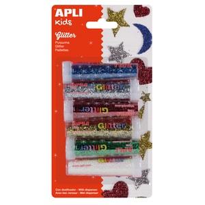 Sclipici APLI, 7g, 6 cutii, diverse culori