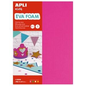Spuma eva APLI, 21 x 29.7 x 0.2 cm, 4 coli, diverse culori