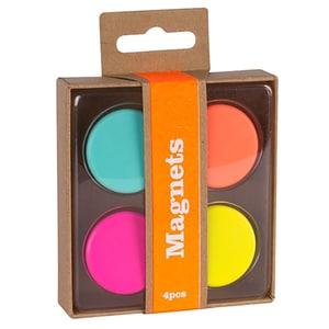 Magneti APLI, 4 bucati, diverse culori