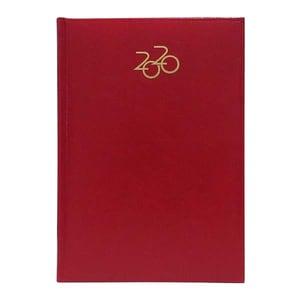 Agenda datata ARTILUX 2020, A5, 168 file, hartie ivory, rosu
