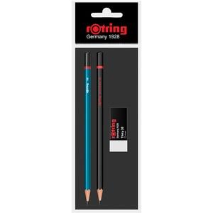Set creion grafit ROTRING RO509821, diverse culori + radiera