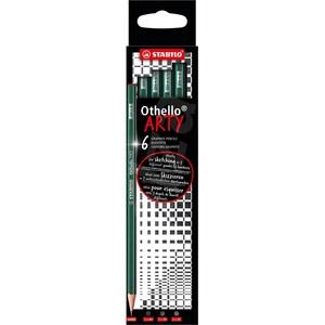 Set creioane grafit STABILO SW82621B, 6 bucati