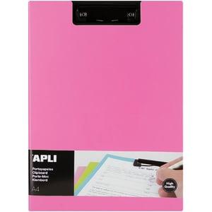 Clipboard APLI, A4, polipropilena, roz