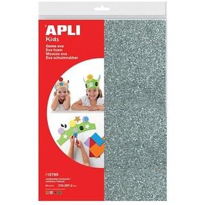 Spuma eva APLI, A4, 4 coli, argintiu