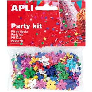 Confeti APLI AL013818, 13 mm, diverse culori