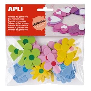 Forme autoadezive APLI, 40 x 40 mm, 40 bucati, diverse culori