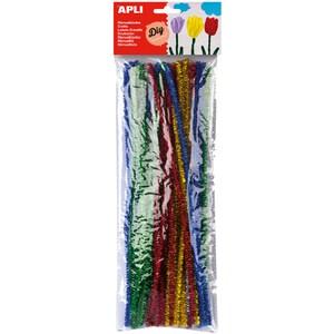 Decoratiuni cu sclipici APLI AL080026, 50 bucati, diverse culori