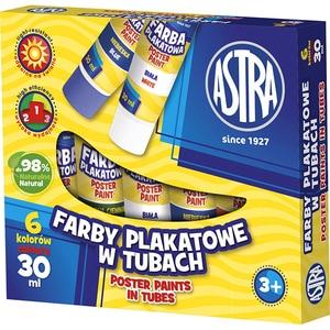 Tempera ASTRA Farby Plakatowe, 30 ml, 6 culori