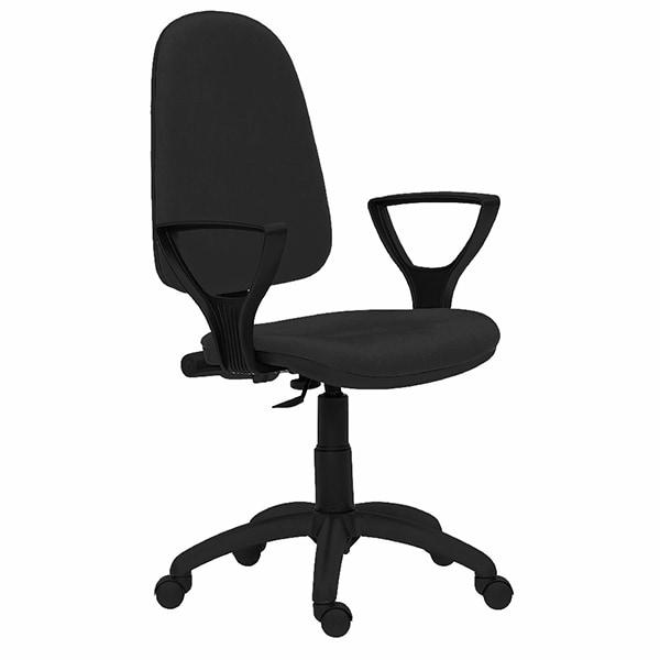 Scaun birou operational DANIELA, stofa, negru
