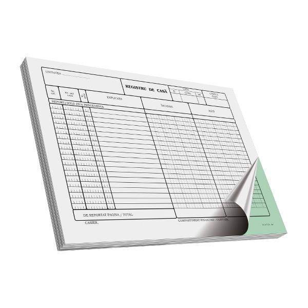 Registru de casa RTC, A4, 2 exemplare, 50 file x 3 carnete