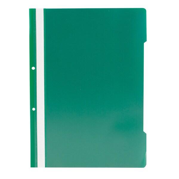 Dosar cu sina si 2 perforatii RTC, A4, polipropilena, 10 bucati, verde