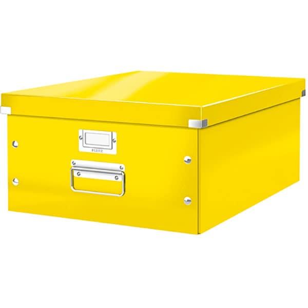 Cutie organizare LEITZ Click & Store, 369 x 200 x 482 mm, carton, galben