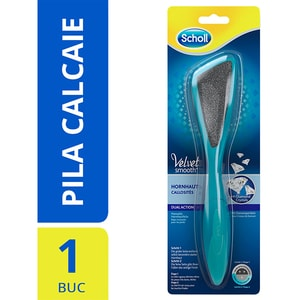 Pila manuala SCHOLL Velvet Smooth Dual Action, albastru