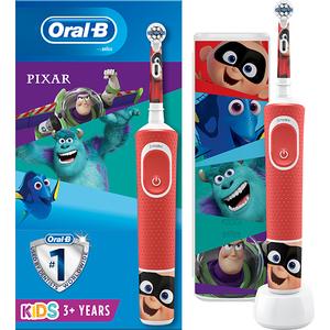 Periuta de dinti electrica ORAL-B Vitality Pixar, Curatare 2D, 2 programe, 1 capat, rosu