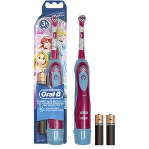 Periuta de dinti electrica pentru copii cu baterie ORAL-B powered by Braun D2010, 9600 oscilatii, 1 program, 1 capat, Princess/Cars