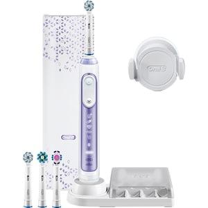 Periuta de dinti electrica ORAL-B Genius 10 Orchid, Curatare 3D, Bluetooth, 6 programe, 40000 pulsatii/min, 4 capete, violet + Etui calatorie