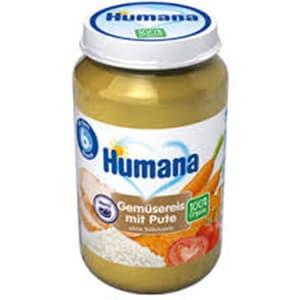 Piure HUMANA ECO de legume, orez si curcan 70213, 6 luni+, 190g