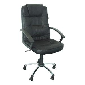Scaun birou directorial LGA, piele naturala, negru