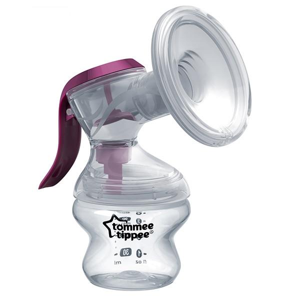 Pompa de san manuala TOMMEE TIPPEE TT0256, 150ml, mov-transparent