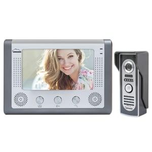 Interfon video SILVERCLOUD PNI-SC715, 7 inch, negru-argintiu