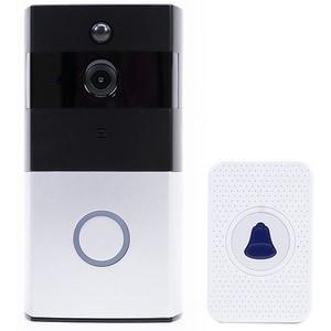 Interfon video Wireless Smart PNI SafeHome PT710B, HD 1080p, Sonerie, alb-negru