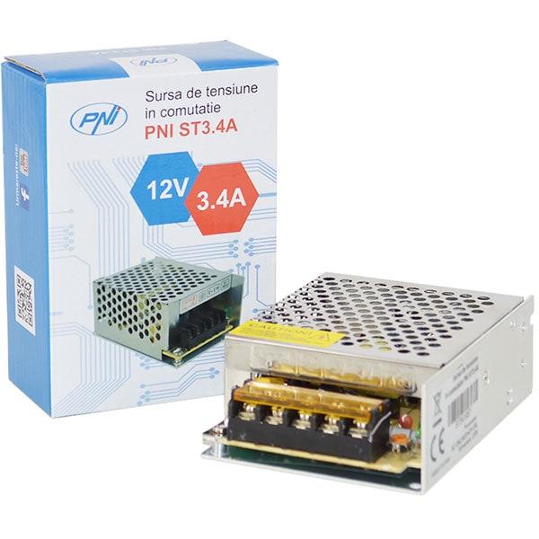 Alimentator sisteme de supraveghere PNI-ST3.4A, 12V, 3.4A
