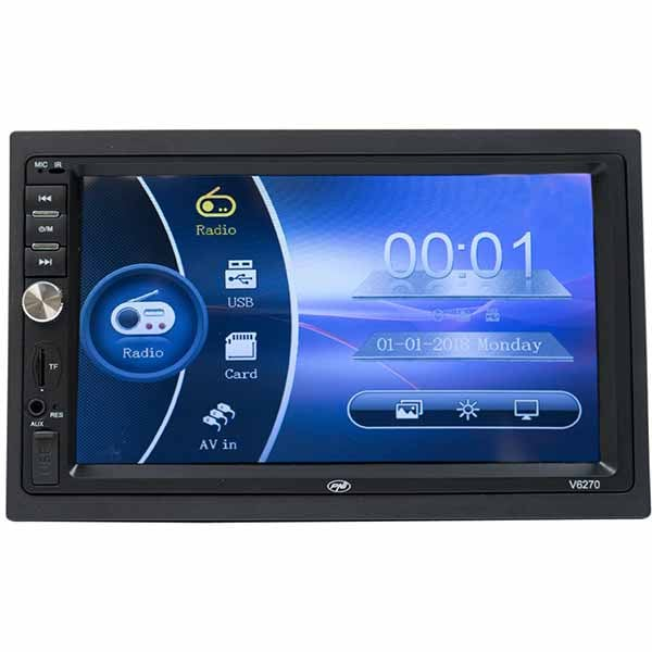 "Player multimedia auto PNI V6270, 7"", MP5, Touch, Bluetooth, USB, negru"
