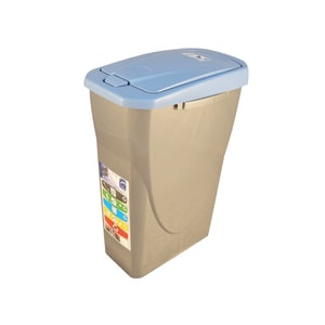 Cos de gunoi cu capac PLASTOR Eco Bin, colectare selectiva, 25 L, albastru