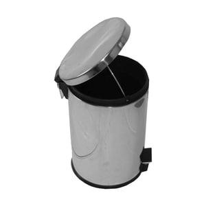 Cos de gunoi cu capac PLASTOR, cu pedala, 12 L, inox