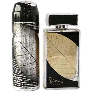 Set cadou LATTAFA PERFUMES Najdia: Apa de parfum, 100ml + Deodorant spray, 50ml