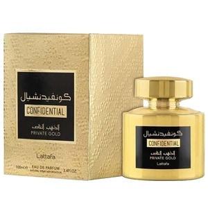 Apa de parfum LATTAFA PERFUMES Confidential Private Gold, Femei,  100ml