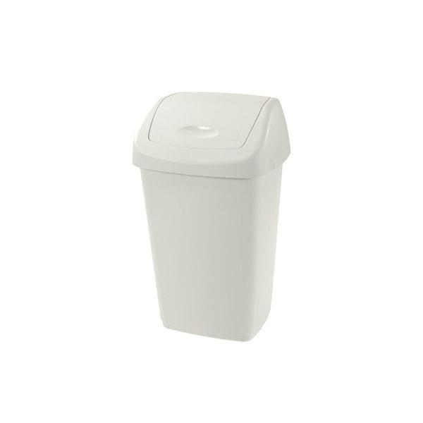 Cos de gunoi cu capac PLASTOR Aurora, 25 L, crem