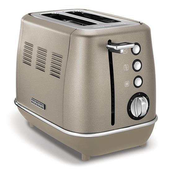 Prajitor paine MORPHY RICHARDS Evoke 2 Slice Toaster Platinum 224403, 2 felii, 900W, auriu