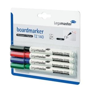 Set 4 markere pentru tabla LEGAMASTER TZ140, varf rotund, 1 mm