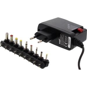 Incarcator universal WELL PSUP-SMP-2000MA/9T-WL, 2A, 9 mufe, negru