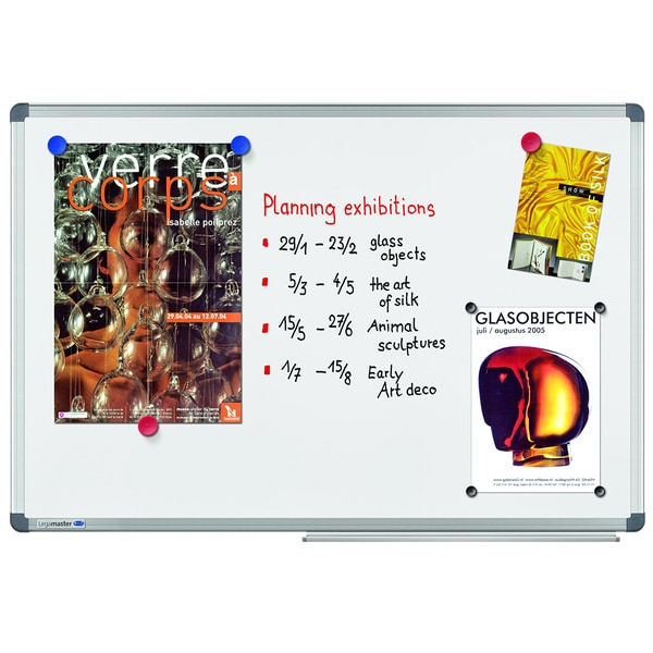 Tabla magnetica LEGAMASTER Universal, 100 x 150 cm, alb