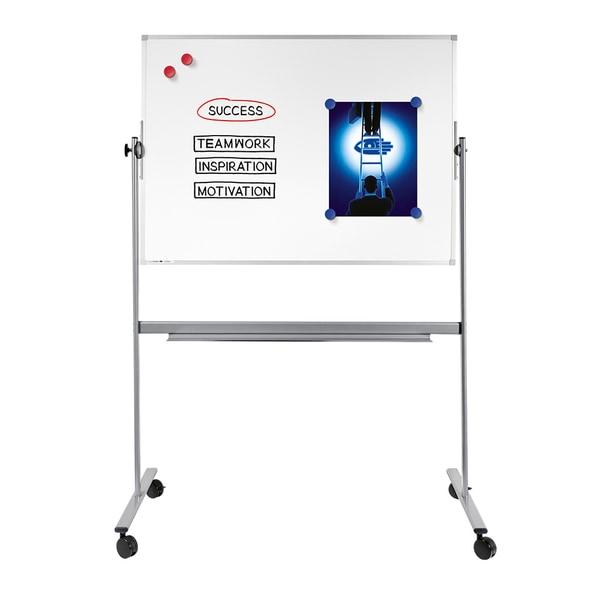 Tabla magnetica rotativa LEGAMASTER, 100 x 150 cm, alb